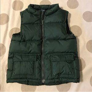 Gymboree hunter green down vest 2T-3T